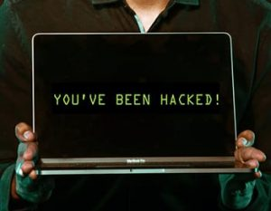 Image of Hacked Computer for Cyber Insurance