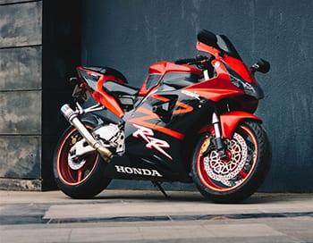 Visual image of a Motorbike