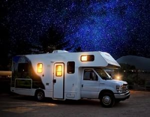 A picture of a motorhome, to advertise Motorhome Insurance