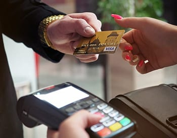 Image of card transaction for Shop Insurance